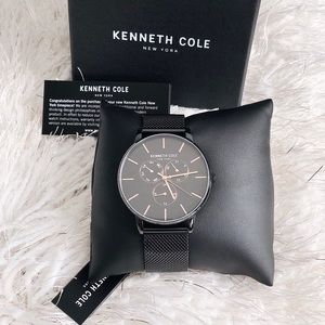 ✨New KENNETH COLE Mens Mesh Bracelet Watch 42mm
